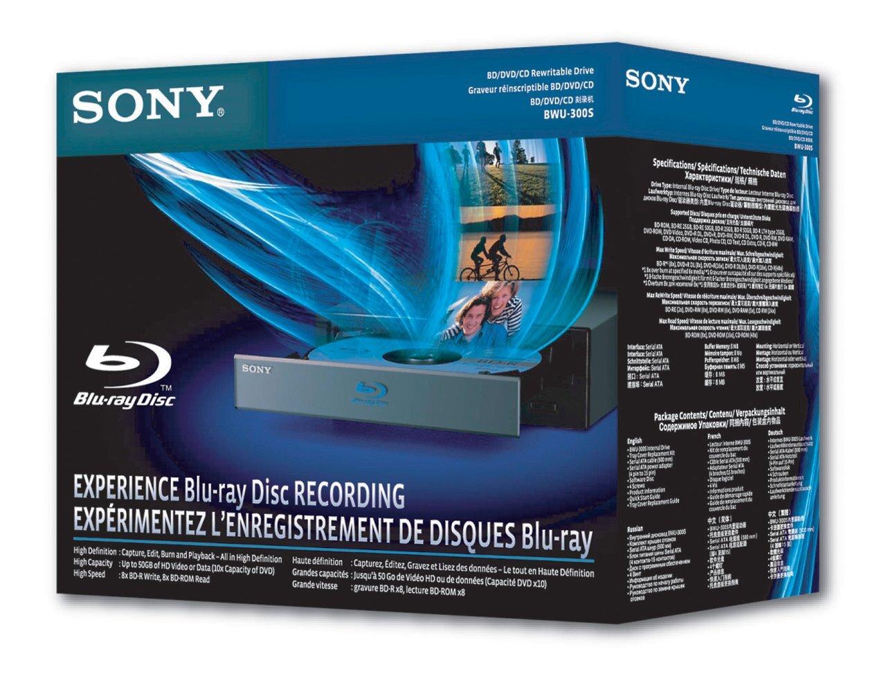 le graveur blu ray sony bwu 300s arrive en europe pour 295. Black Bedroom Furniture Sets. Home Design Ideas