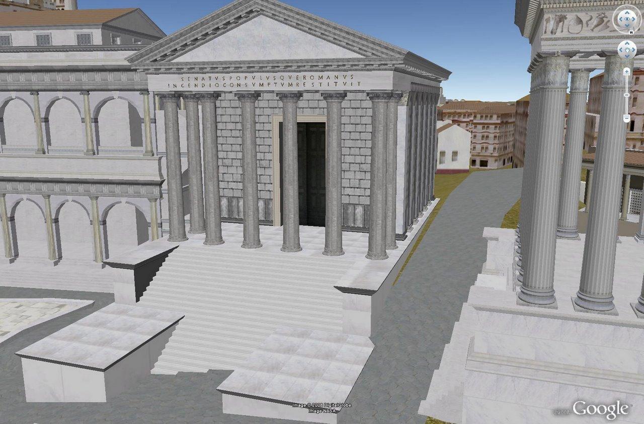 Visiter la rome antique en 3d dans google earth - La cuisine de la rome antique ...