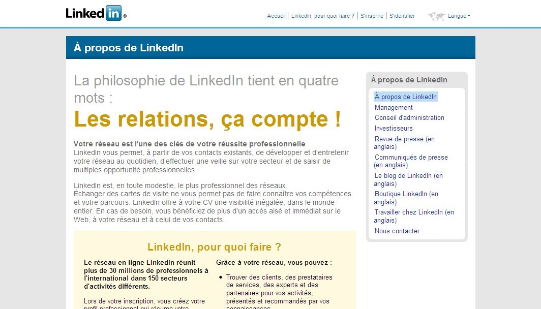 Le Rseau Social Professionnel LinkedIn Parle Enfin Franais