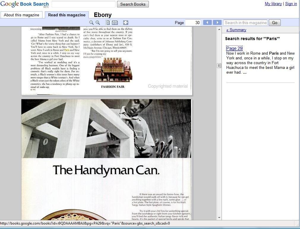 Des magazines scannés dans la bibliothèque Google Books