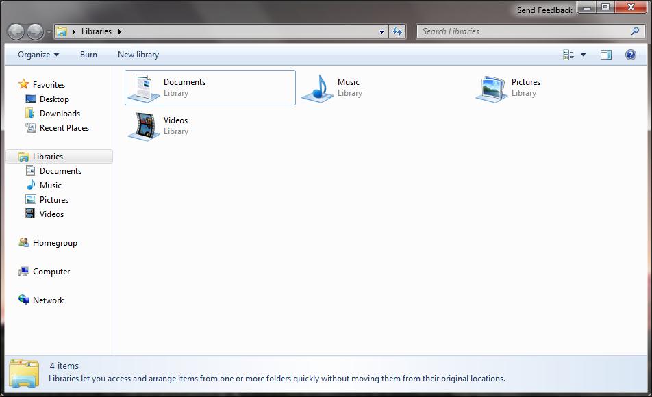 Windows 7 l 39 organisation des fichiers dans l 39 explorateur for Fenetre explorateur windows 7
