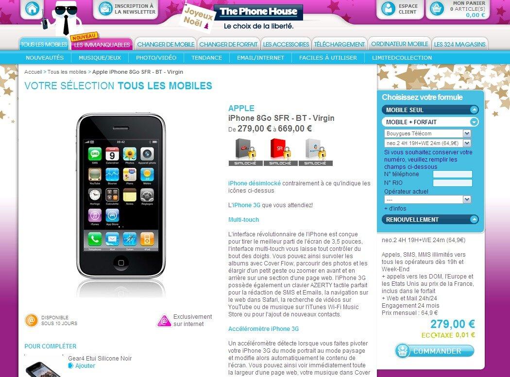 Iphone  Avec Forfait Bouygues