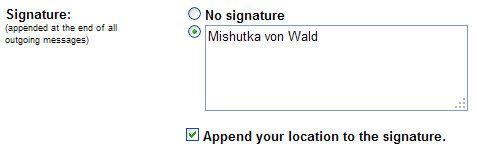 localisation gmail google signature