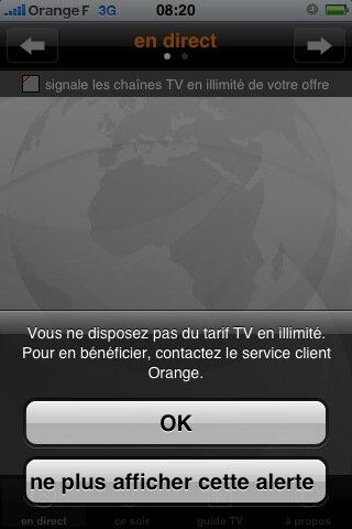 Orange Lance Son Application Tv Pour L Iphone D Apple