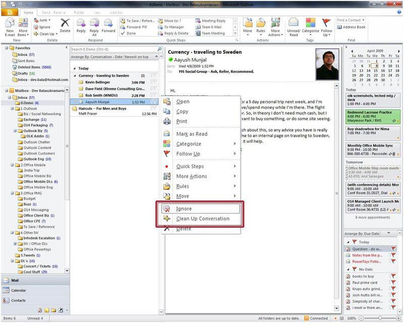 Microsoft : des informations sur Exchange et Office 2010