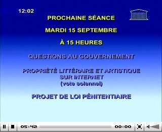 Assemblee Nationale 15 septembre 2009