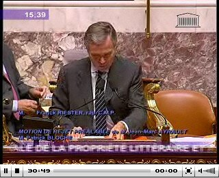 Seance Assemblee Nationale 22 septembre 2009