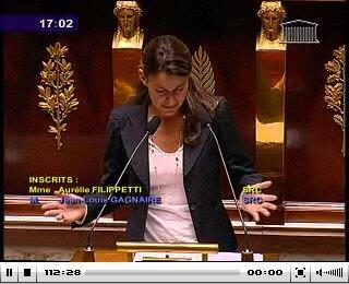 Aurélie Filippetti 22 septembre 2009