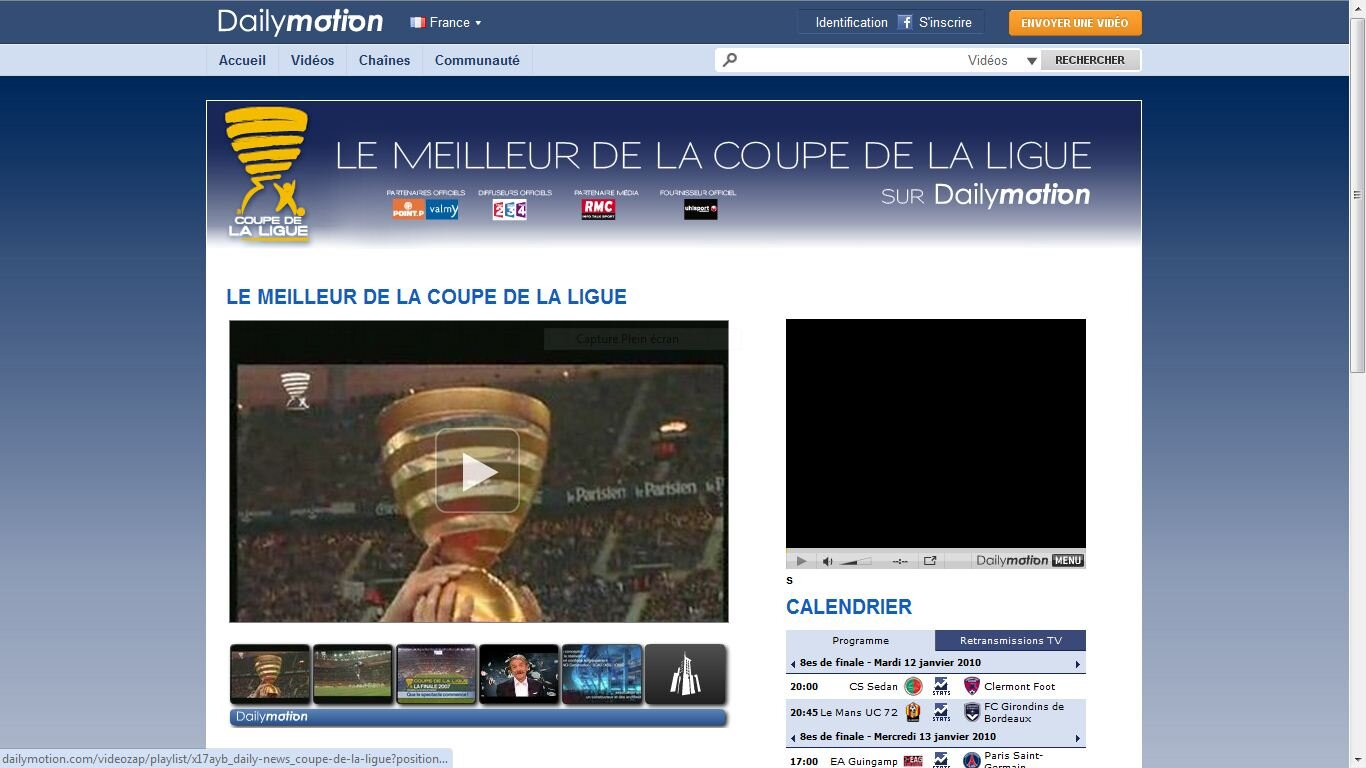 Foot la lfp tente de lutter contre le piratage avec dailymotion - Resultat coupe de la ligue en direct ...