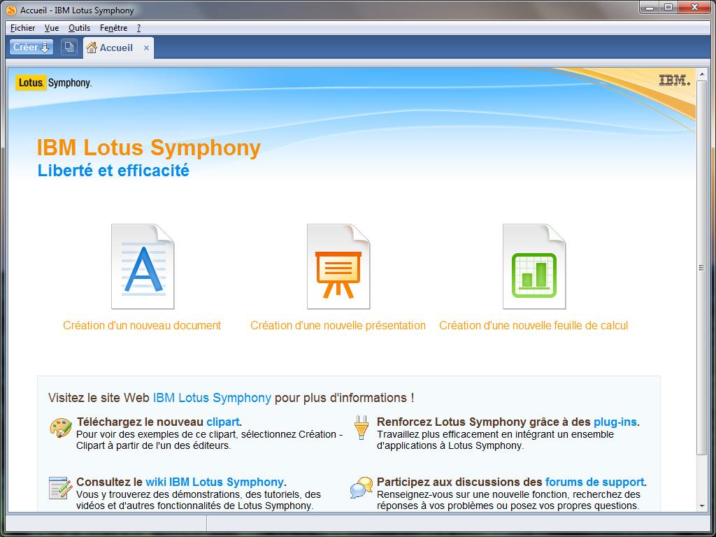 Lotus Symphony 3 0 B 234 Ta 2 Utilise Bien Openoffice Org 3 X