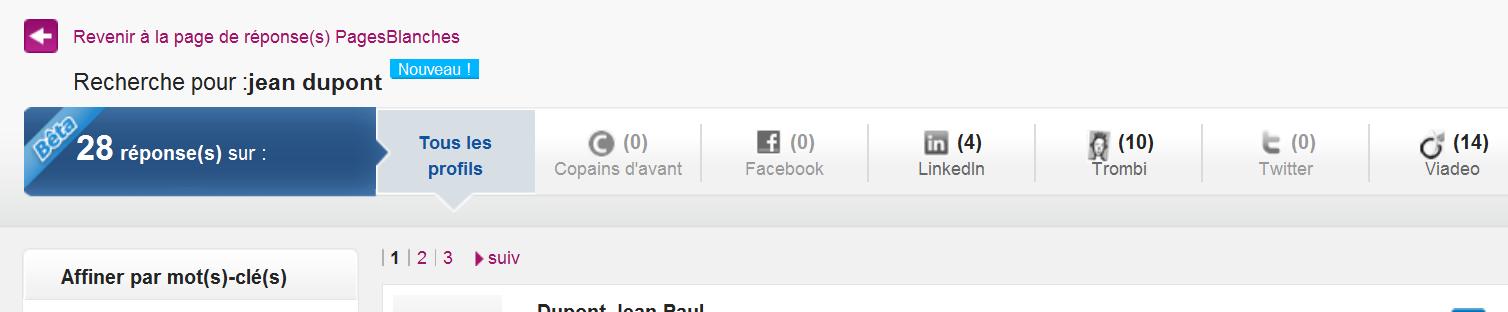 PagesBlanches.fr croise son annuaire avec les réseaux sociaux