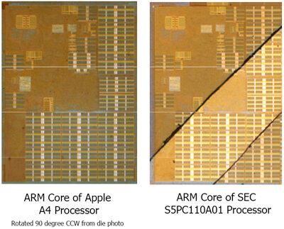 apple a4 cortex a8 samsung
