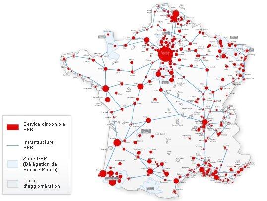 Sfr explique o est pass son 1 5 milliard investi cette ann e - Carte fibre optique france ...