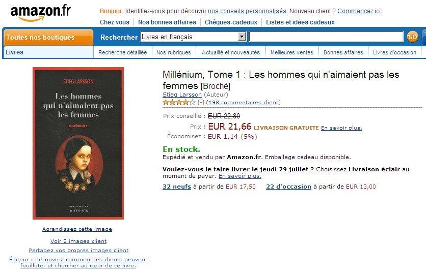 Kindle Stieg Larsson Millennium Devient Le 1er Millionnaire