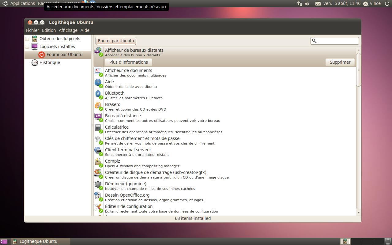 Personnalisation du bureau gnome ubuntu