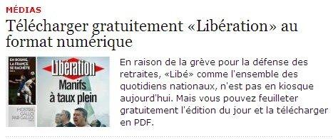 Liberation gratuit