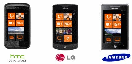 Orange HTC LG Samsung Windows Phone 7