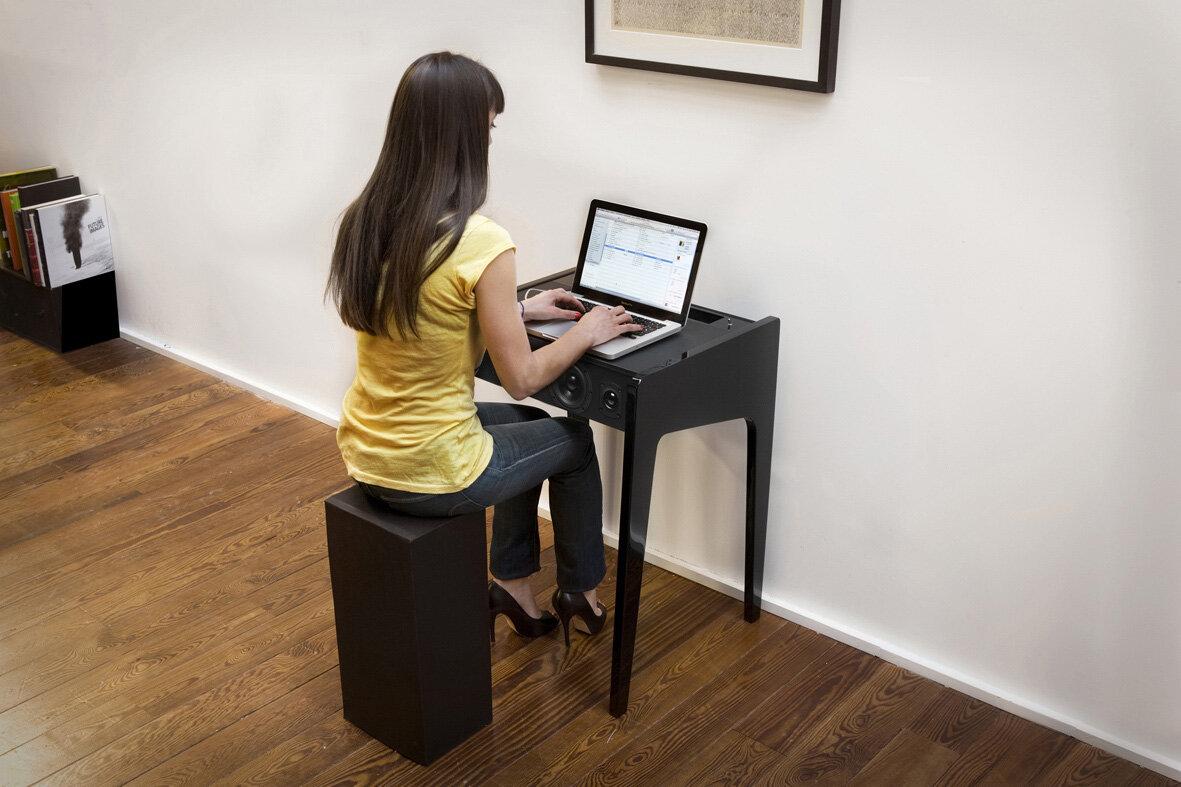 Table Console Pour Ordinateur # Image De Meuble Pour Ordinateur Et Livre