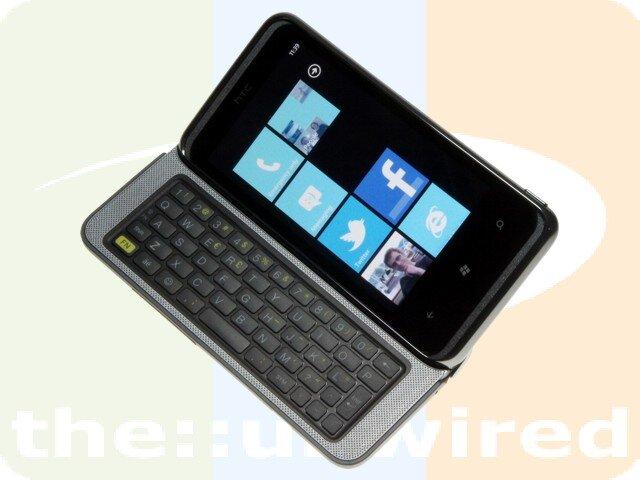 htc 7 pro un smartphone windows phone 7 clavier physique. Black Bedroom Furniture Sets. Home Design Ideas
