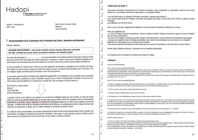 lettre de reponse a un avertissement au travail