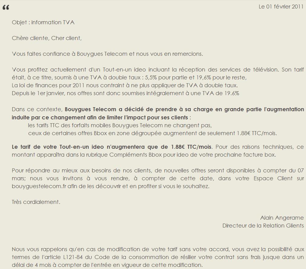 Bouygues Tous Les Details De La Hausse De La Tva Sur L Adsl