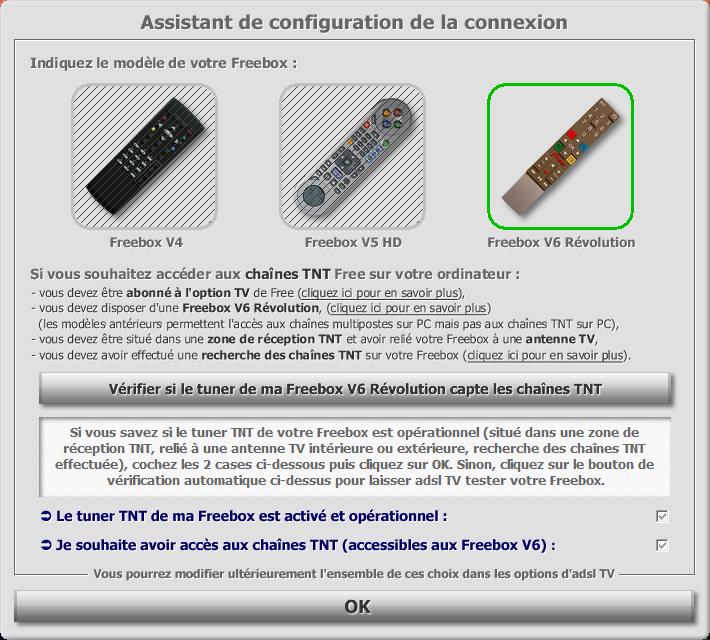 adsl tv pour freebox v6