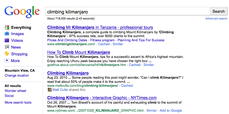 Capturing the Title of each Search results in Google ...