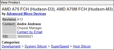 AMD certification USB 3.0 chipset llano