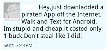 android walkinwat walk text