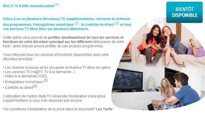 bouygues telecom propose galement une offre multi tv. Black Bedroom Furniture Sets. Home Design Ideas