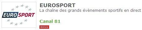 Eurosport exclusivite CanalSat