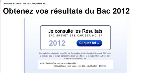 résultats 2012 payant