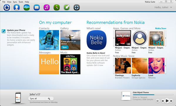 Nokia Suite Beta 3.5