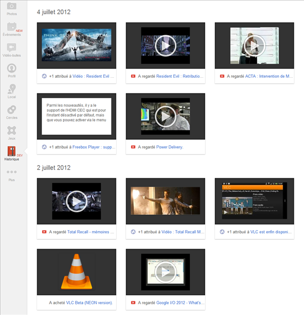 Google+ History Moments
