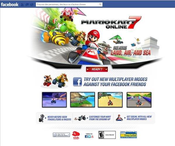 Scam Facebook Mario kart