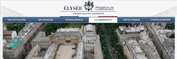 site présidence élysée