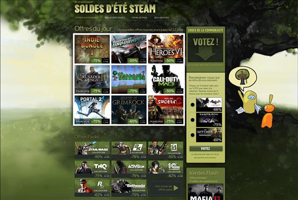 Soldes Steam été 2012