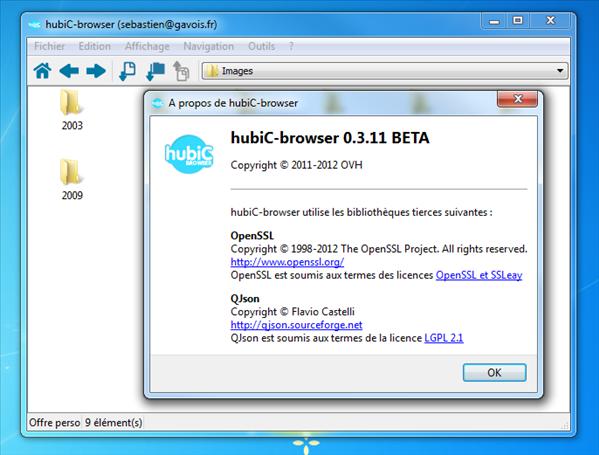 Hubic-browser 0.3.11 copier coller deplacer