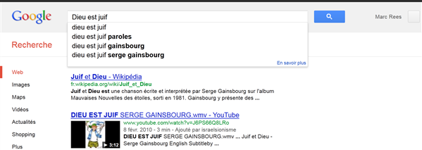 moteur suggest google