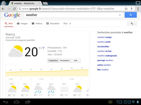 Google Météo