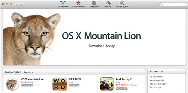 Mountain Lion App Store
