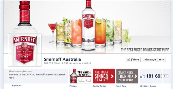 smirnoff facebook