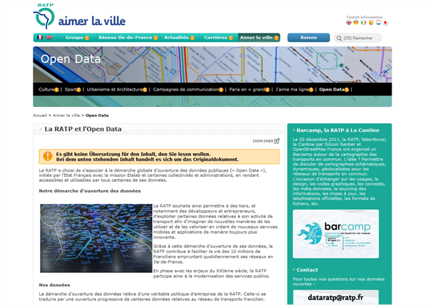 RATP open data