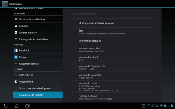 Asus Transformer Pad TF300T Update