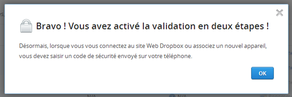Dropbox Two-Steps Auth