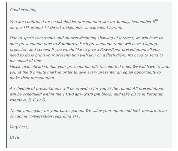 EFF lettre USTR