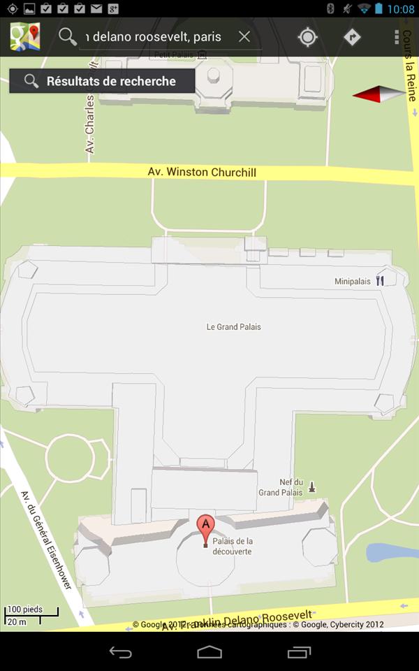 Google Maps Indoor Palais de la decouverte