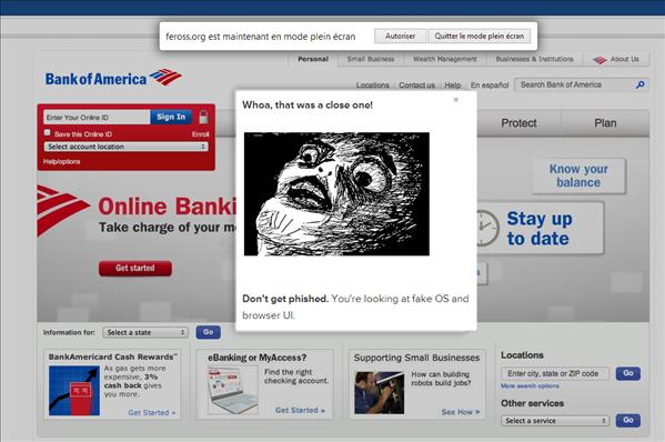 phishing html5 fullscreen