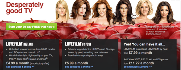 amazon lovefilm UK