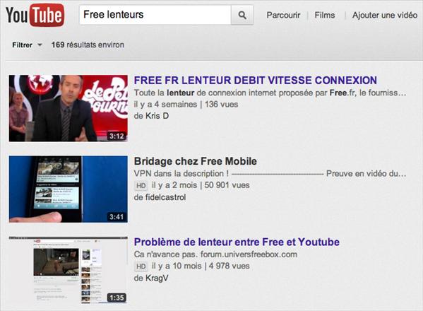 Free lenteurs YouTube